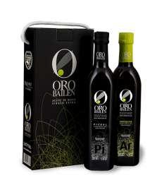 Azeite virgem extra Oro Bailen.Estuche 2 botellas 750 ml.